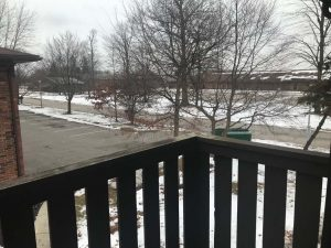 Saginaw Townhomes - Cabaret Trail Unit 4 - Balcony View Front - Winter